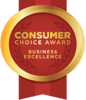 Consumer Choice Award Business Excellence ribbon