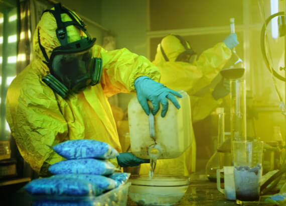 First Response Cleaning's Crew Cleans And Restores A Room Previously Used As A Meth lab